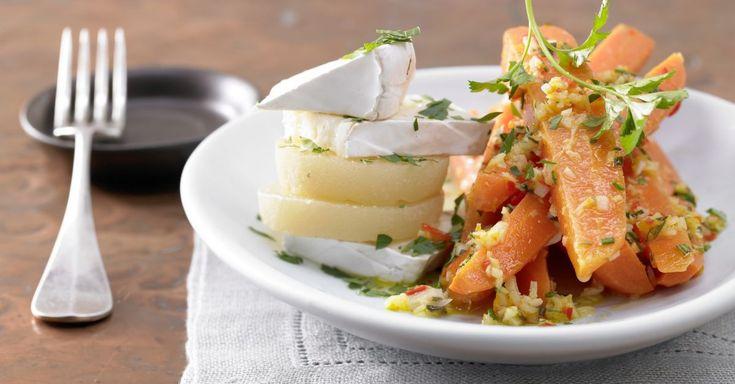 Ingwer-Chili-Möhren: Exotisch gewürzt harmonieren Möhren und Camembert wunderbar. Die kohlenhydratarme Möhren-Camembert-Kombi ist eine Geschmackskomposition
