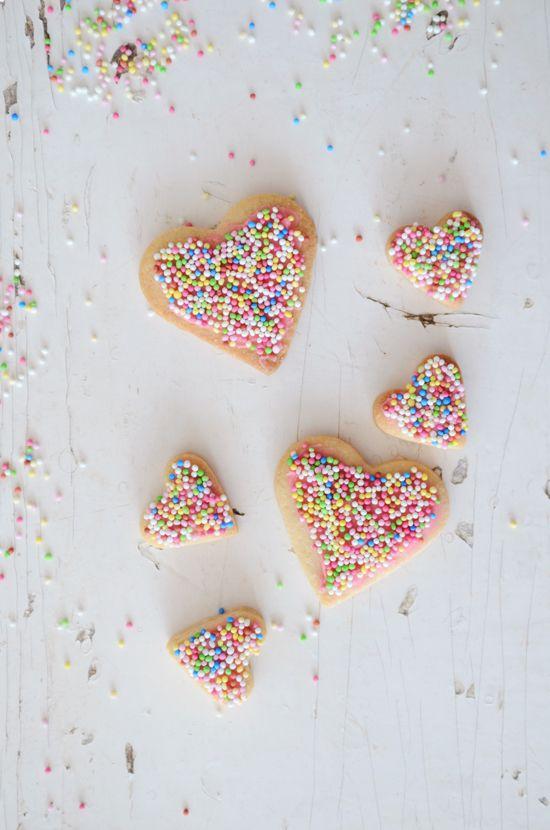 The Yvestown Blog: Food Recipes, Sweet, Valentines Cookies, Heart Cookies, Heart Shape, Sprinkles Cookies, Decor Cookies, Sprinkle Cookies, Valentine'S S