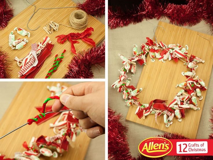 Hang this ALLEN'S MINTIES wreath on the door so that every guest can enjoy a little moment.
