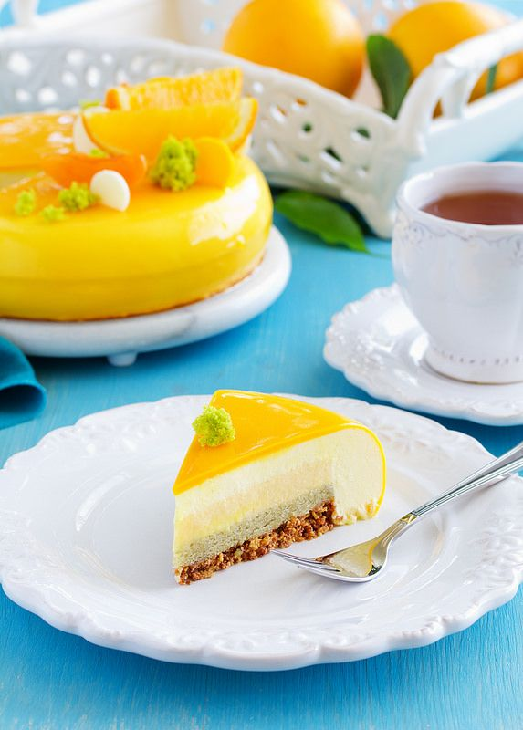 ... glaze entremet on Pinterest | Pastries, How to make mirror and Cakes