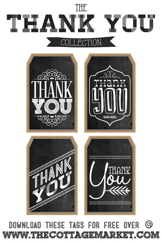 Free Printable Thank You Chalkboard Tags A Happy Thanksgiving