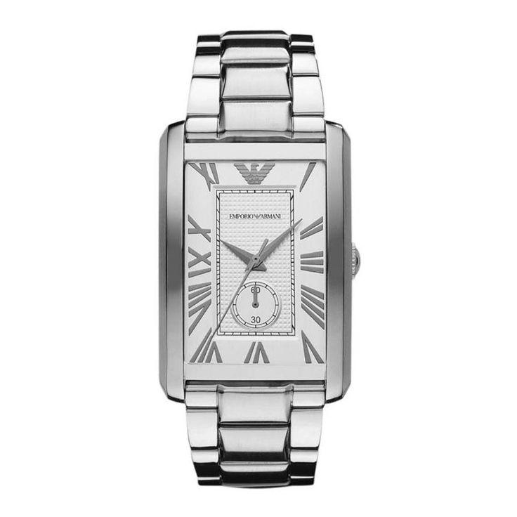 Reloj de pulsera AR1607 para mujer con cuarzo, con caja de acero inoxidable con diàmetro de 31 mm, con dial blanco y correa en acero inoxidable, color plateado.
