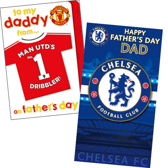 Official Football Father's Day Cards from £2 and Free 1st Class UK Delivery at https://www.danilo.com/Shop/Cards-and-Wrap/Seasonal-cards