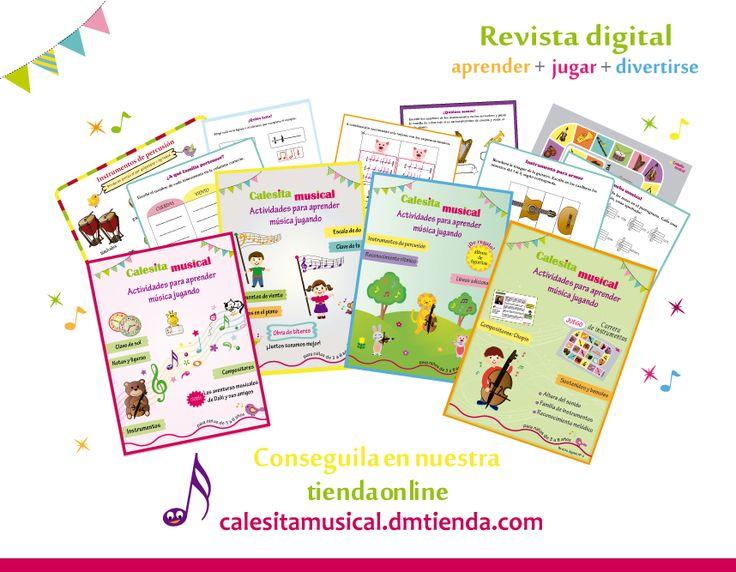 Revista digital con actividades para la enseñanza musical para niños de 3 a 8 años- Info en : https://www.facebook.com/calesitamusical.com.ar