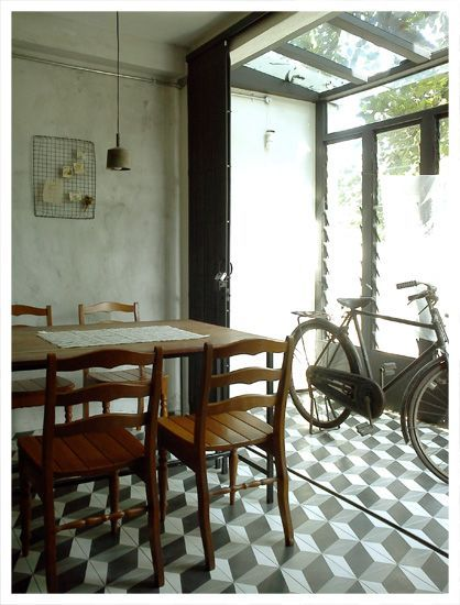 Dining area / glass house
