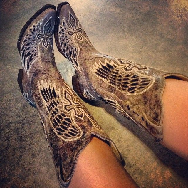 Corral Brown Black Wing and Cross Boots A1241 at RiverTrailMercantile.com!