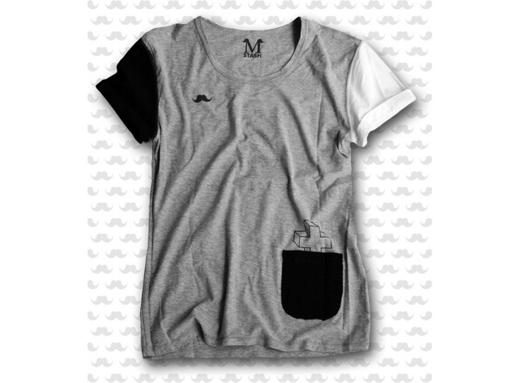 M-STASH // WYE - Wish You Existed (inside) // 100% cotton reversible tee
