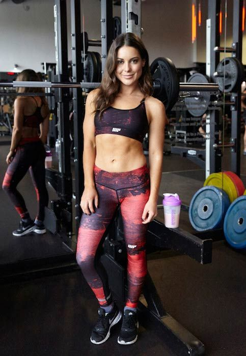 Louise Thompson in the gym...