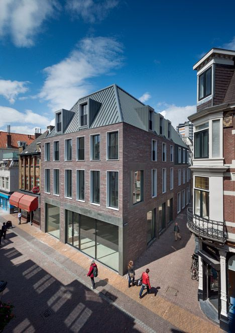 Dreessen Willemse adds a modern brick building to a historic Utrecht street | Dezeen | Bloglovin'
