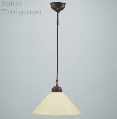 Fresh antik Schnurpendelleuchte aus Messing Original Berliner Messinglampen handgefertigte Schnurpendelleuchte