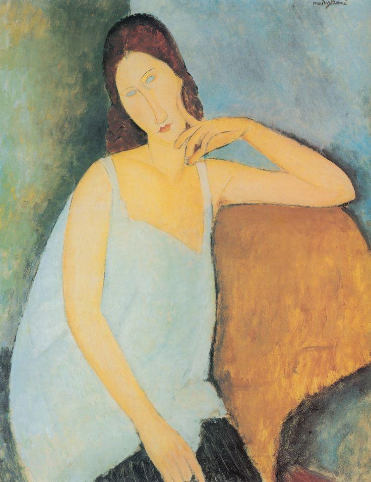 Amadeo Modigliani - Portrait of Jeanne Hebuterne