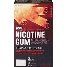 Shop online for CVS Nicotine Gum 2mg, Cinnamon 10ct at CVS.COM. Find Nicotine Gum and other Stop Smoking products at CVS.