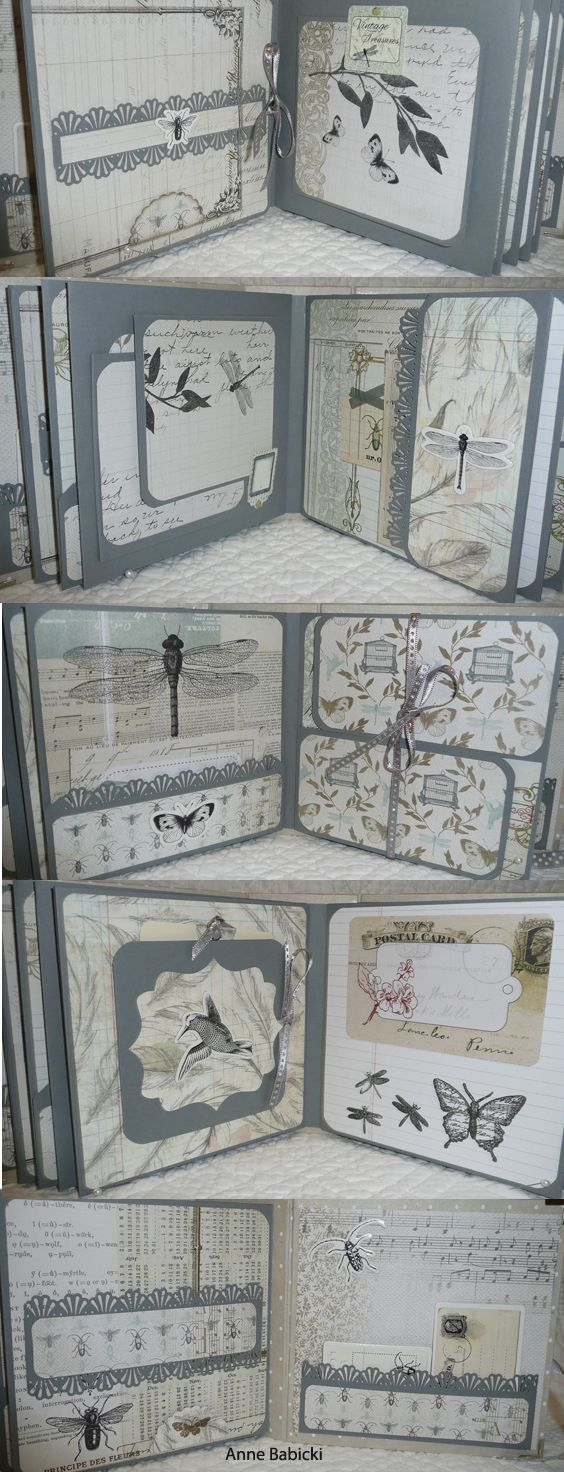 "Mini album 16cm x16cm .äpier Toga ""cabinet de curiosités"