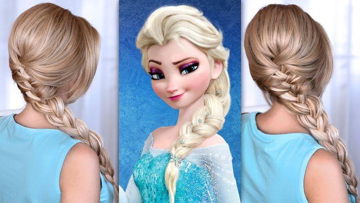 Tuto coiffure tresse africaine d'Elsa de la Reine des Neiges Tresse africaine avec cheveux bombés sur le dessus + écarter les mèches tressées pour donner du volume