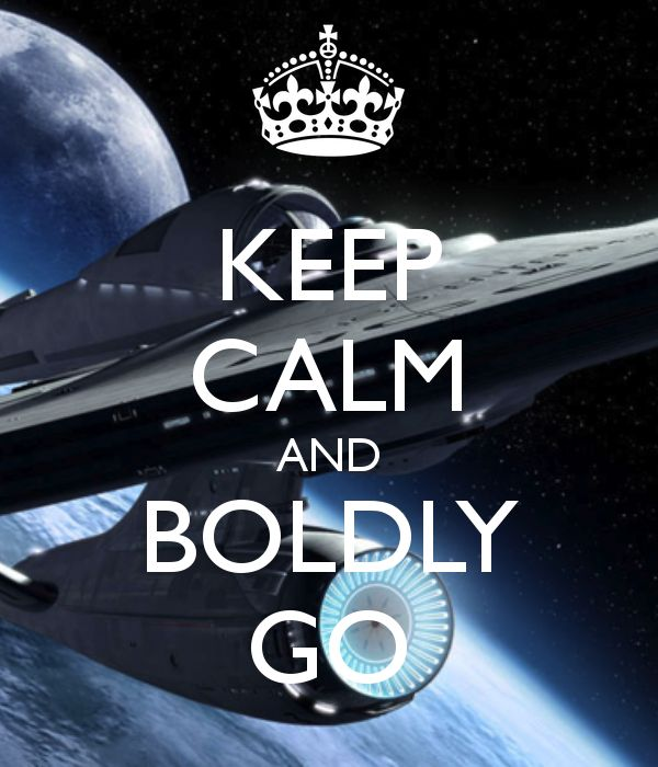 """""""-where no man has ever gone before"""" Only a Star Trek nerd would know this one. :D"""