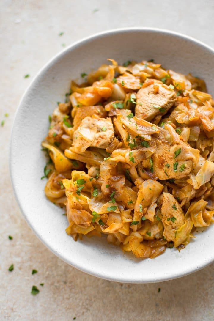Sauted Cabbage And Chicken Is A Healthy And Delicious Stir Fry