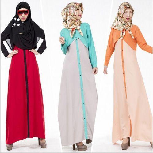 Long Zipper Sleeve Dress Abaya