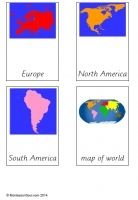 Continents Cards