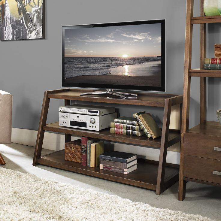 Simple and beautiful, the Hawkins TV Media Stand is perfectly sized for TV's up to 52-inch at a perfect viewing height. Two shelves give you lots of space for your media devices and any other items that you may have.