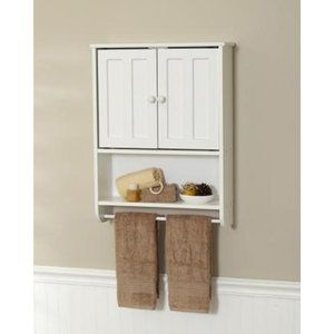 Zenith Products Wood Wall Cabinet White
