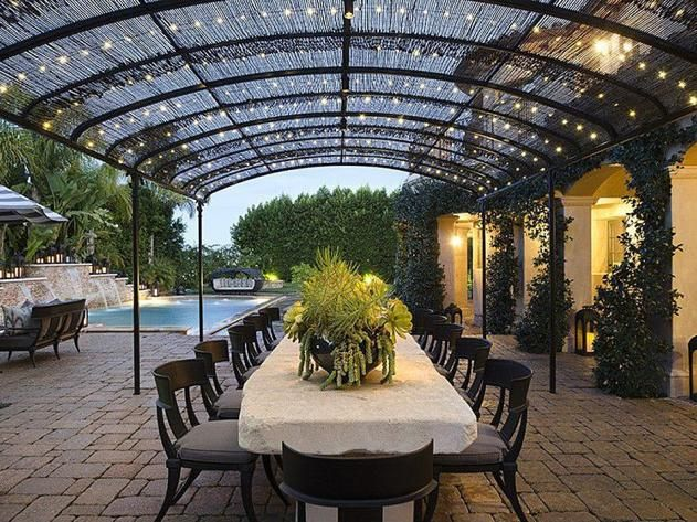 #KhloeKardashian's California Home: Patio>> http://www.frontdoor.com/photos/inside-khloe-kardashians-california-mansion?soc-pinterest