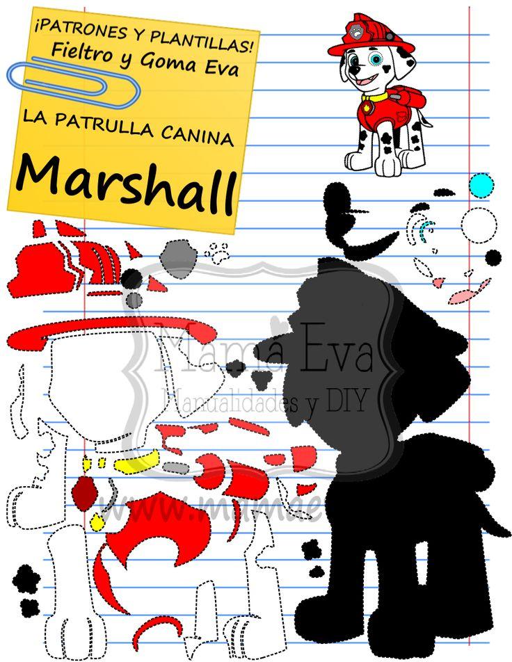 Descarga gratis nuestras plantillas para goma eva y fieltro de tus personajes de dibujos animados actuales favoritos: Marshall, Rubble...