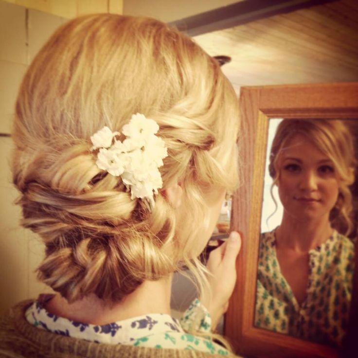 Updo for Wedding  #bbbeauty #bbbteam #curls #pearls  www.brittanybuckhair.com