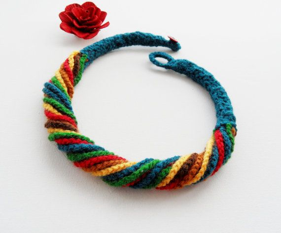 Hey, I found this really awesome Etsy listing at https://www.etsy.com/uk/listing/264660885/crochet-necklace-multicolored-necklace