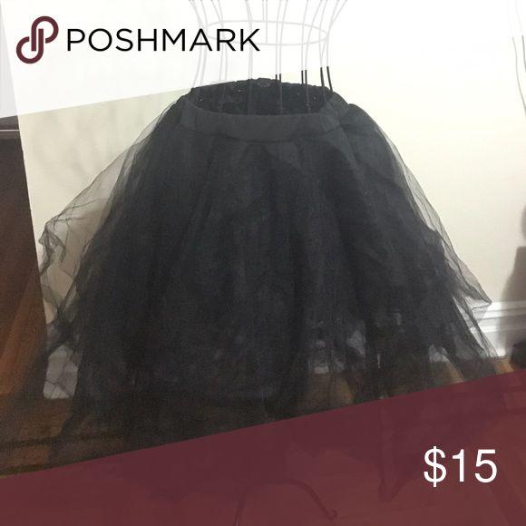 Black Tulle Skirt Black Tulle Ballerina Skirt. Great condition. Skirts A-Line or Full