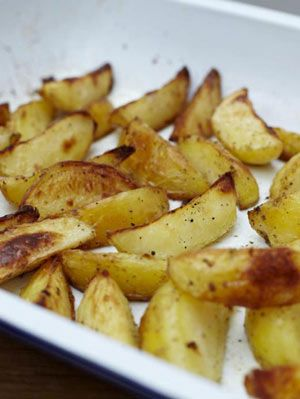 Jamie Oliver - 30 Minutes Meals - Potato wedges. http://www.jamieoliver.com/recipes/vegetables-recipes/potato-wedges