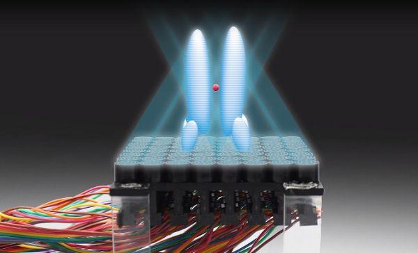 En vídeo como un haz de ondas sonoras es capaz de manejar pequeños objetos