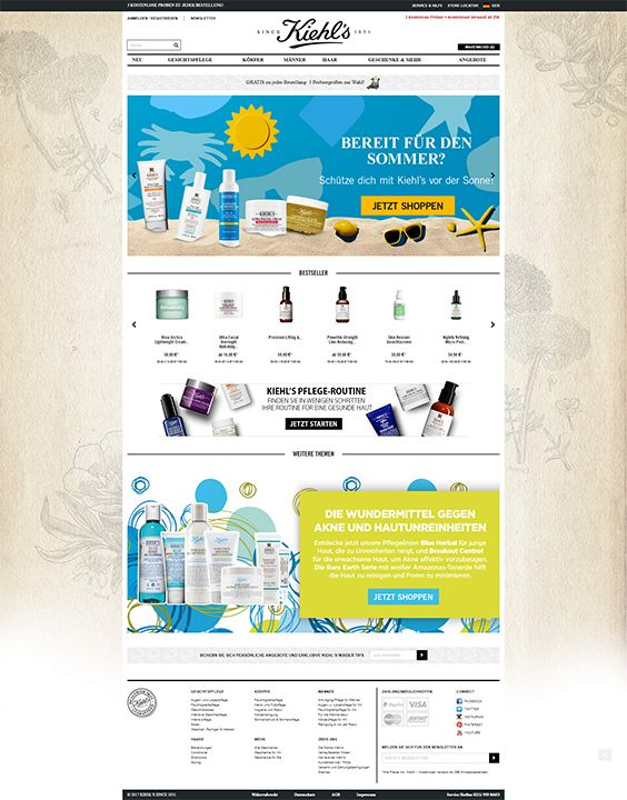 #ShopwareDesign #ShopwareTheme #ShopwareShop #eCommerce #eCommerceSoftware #eCommerceplatform #Onlineshop #Beauty #clean #webdesign #cleanwebdesign #skincare #bodycare #kiehls