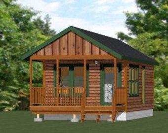 Articles similaires à 14 x 32 1 chambre minuscules maisons--PDF Plans d'étage--567 sq ft sur Etsy