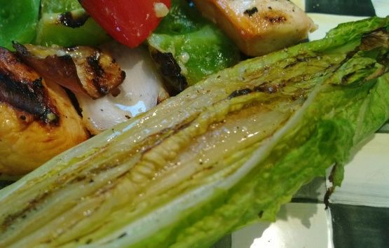 Grilled Romaine Hearts With Caesar Vinaigrette Recipe - Food.com