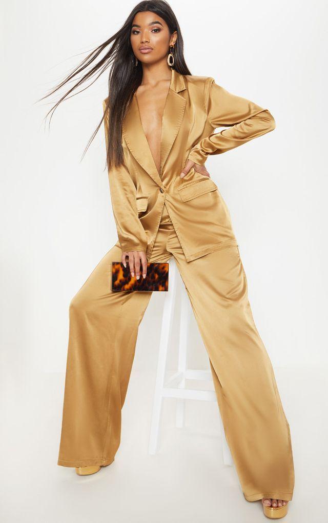 Women S Satin Pant Suits