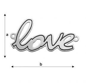 Love - argint .925 29.17*14.8 mm