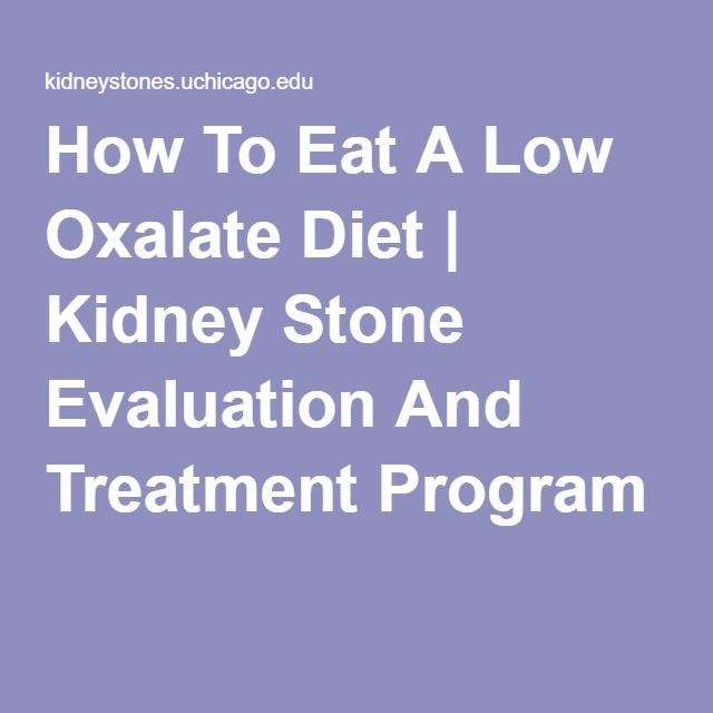 How To Eat A Low Oxalate Diet