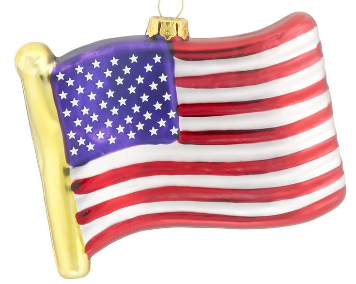 United States Christmas Ornaments Part - 36: Flag Of United States Of America - Personalized Ornament