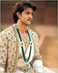 Emperor Akbar played by Hrithik Roshan