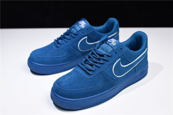 fefa419d9c8 2018 Nike Air Force 1 Low  07 LV8 Suede Blue White AA1117-400 For Sale-2