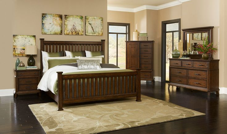 Estes Park Queen Slat Poster Bedroom Set by Broyhill - Home Gallery Stores