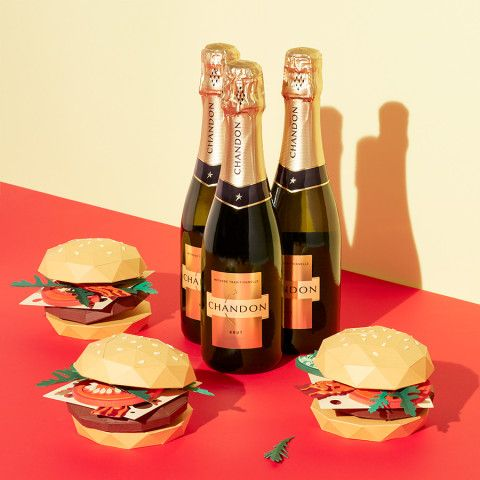 REVERBERE , papercraft, burguer and champagne