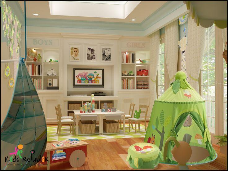 interior for a kids playroom located at jl permata hijau
