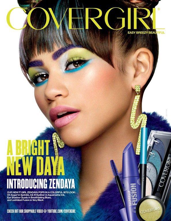 Covergirl Cosmetic Advertising with Zendaya