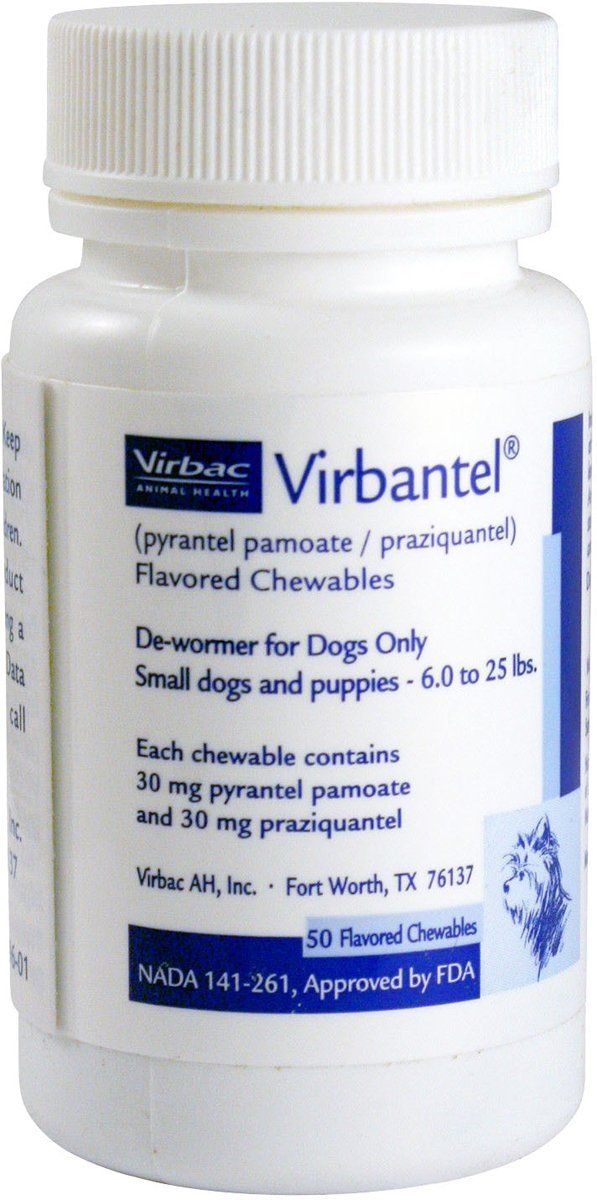 Virbantel Flavored Chewable Tablets - Dewormer for Dogs - Pyrantel Pamoate / Praziquantel - Effective Against Roundworms, Hookworms, and Tapeworms ** Read more  at the image link. (This is an affiliate link and I receive a commission for the sales)