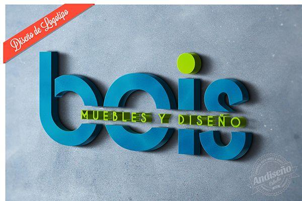 Diseño de logotipo Mueblería Bois by Andiseño Estudio, via Behance
