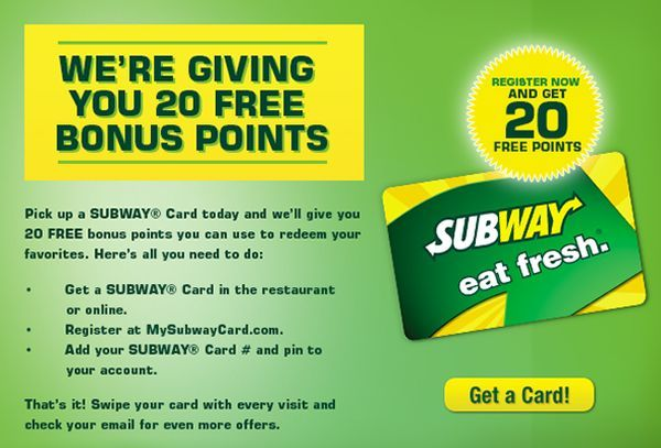Subway Card Login To Check Balance, Get Online Benefits