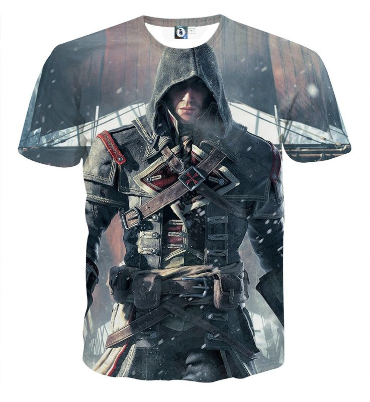 Assassin's Creed Rogue Amazing Shay Cormac's Portrait T-shirt    #Assassin'sCreed #Rogue #Amazing #ShayCormac's #Portrait #T-shirt