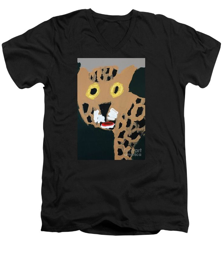 Patrick Francis V-Neck T-Shirt featuring the painting Jaguar 2014 by Patrick Francis