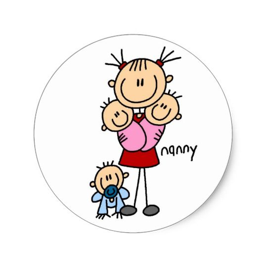 Nanny Stick Figure Sticker